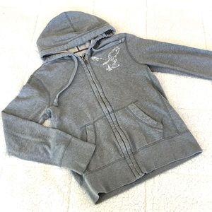 AMERICAN EAGLE Vintage Fit Gray Hoodie Full Zip XS